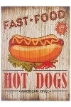 "wooden plate ""Hot Dogs"""