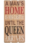 "wooden plate ""A man's home is his castle"""