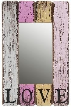 """wooden mirror """"Love"""""""
