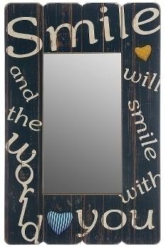 """wooden mirror """"Smile"""""""