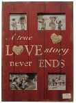 "Holz Fotorahmen  ""A true love Story never"