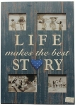 "Holz Fotorahmen ""Life makes the best story"""