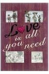 "wooden foto frame ""Love is all you need"""