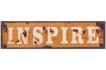 "metal plate ""Inspire"""