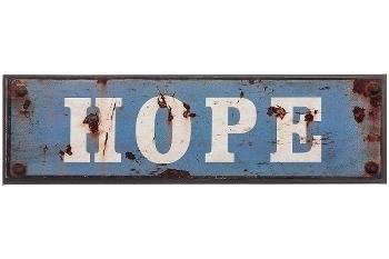 """metal plate """"Hope"""""""