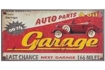 "metal plate ""Garage"""