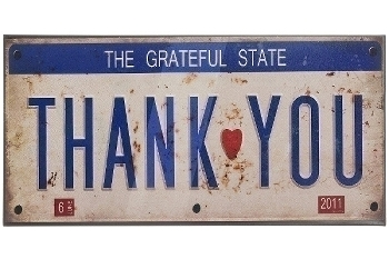 "metal plate ""Grateful State"""