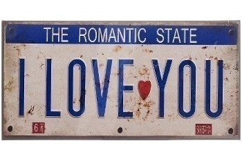 "metal plate ""Romantic State"""