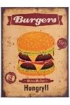 """metal plate """"Burgers"""""""