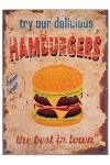"metal plate ""Hamburgers"""