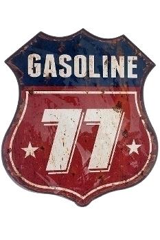 "metal plate ""Gasoline 77"""