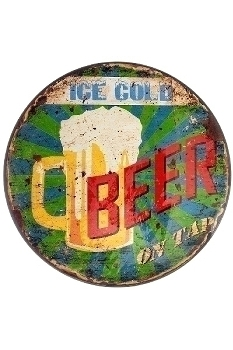 "metal plate ""Ice cold beer"""