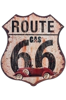 """metal plate """"Route 66 Gas"""""""