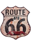 "metal plate ""Route 66 Gas"""