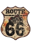 "metal plate ""Route 66"""
