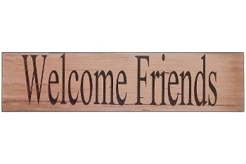 """wooden plate """"Welcome friends"""""""