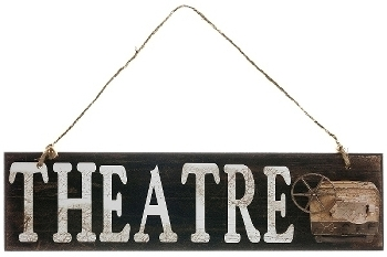 """wooden plate """"Theatre"""""""