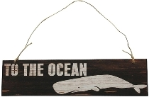 "wooden plate ""To the Ocean"""