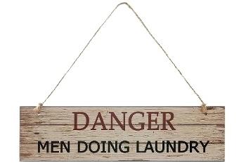 "wooden plate ""Danger"""