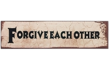 """wooden plate """"Forgive each other"""""""