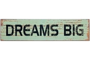 "wooden plate ""Dreams big"""