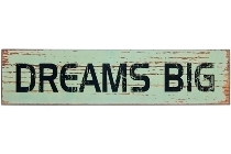 "wooden plate ""Dreams big"""
