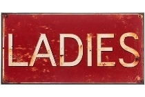 "metal plate ""Ladies"""
