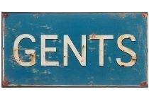 """metal plate """"Gents"""""""