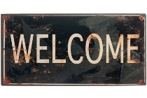 "metal plate ""Welcome"""