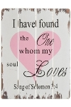 "wooden plate ""I have found the one"""