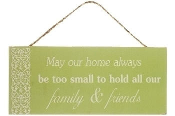 """wooden plate """"Family & Friends"""""""