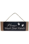 "wooden plate ""Wash your hands"""