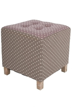 """fabric footstool dotted """"Mina"""""""