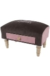 "fabric footstool with drawer ""Madlen"""