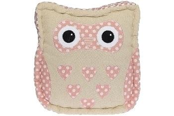 "seat cushion owl ""Anna"", pink"