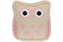 "seat cushion owl ""Anna"", pink"