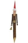santa claus garden stick, material: pine wood,