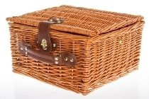 "picnic basket ""Emily"", blue/white for 2"