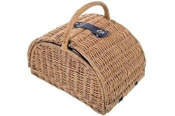 "picnic basket ""Mia"", blue/white for 4"