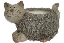 Pflanztopf Katze in Steinoptik, aus Magnesia
