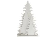 LED Tannenbaumgruppe groß H 35cm weiss