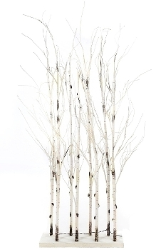 "LED Raumteiler ""Divid"" Baum H 130cm weiss (58 LED)"