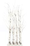 LED Raumteiler Baum H 130cm weiss (58 LED)
