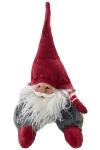 Deko Wichtel mit Mütze aus Filz und Polyresin