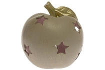 Apple shaped candle house with gold painting