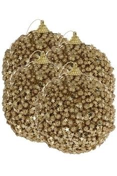 Sternenkugel, gold, matt, 4 Stk.
