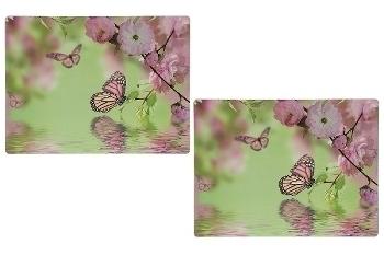 """Platzset """"Rose & Schmetterling"""" 2er Satz, aus"""