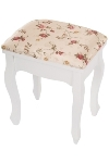 "stool ""Romantic"", with cover out of fabric"