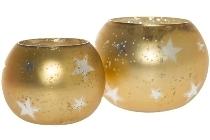 2er Set Teelichtgläser (1x H 8cm /1xH 10cm)