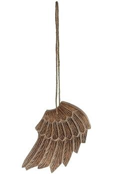 Holz Engelsflügel H 30 cm